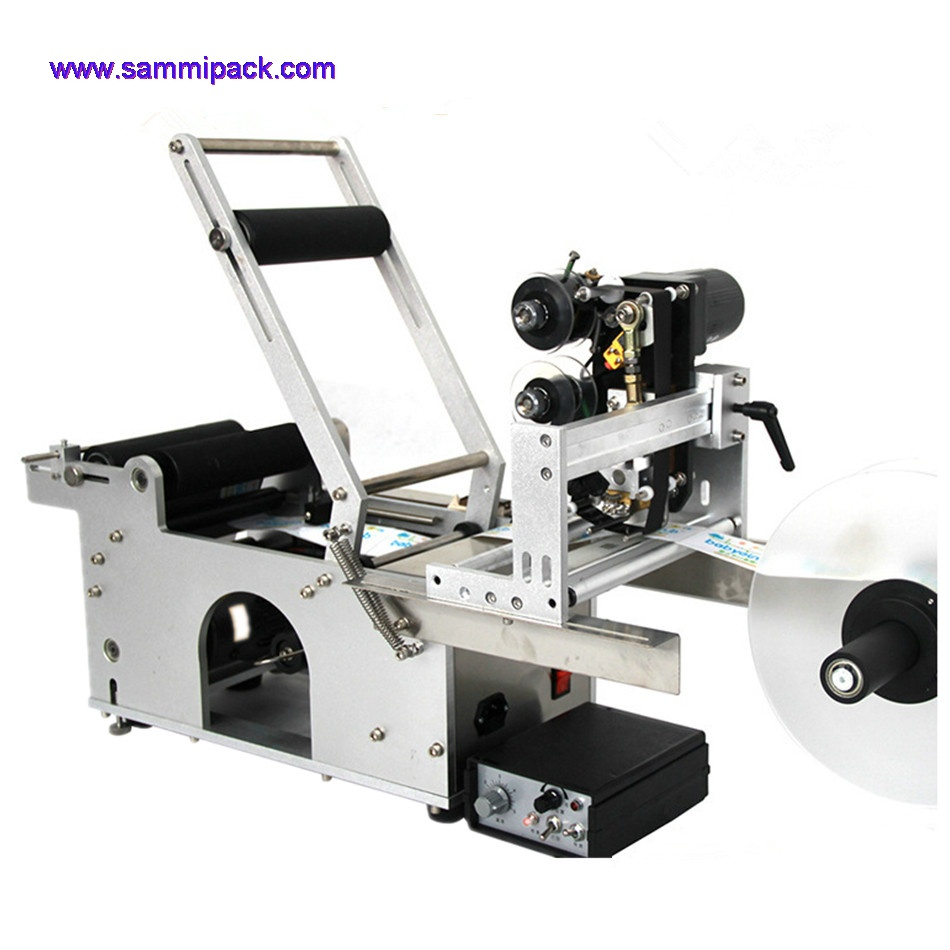Semi-automatic Round Bottle Labeling Machine with date printer/coder
