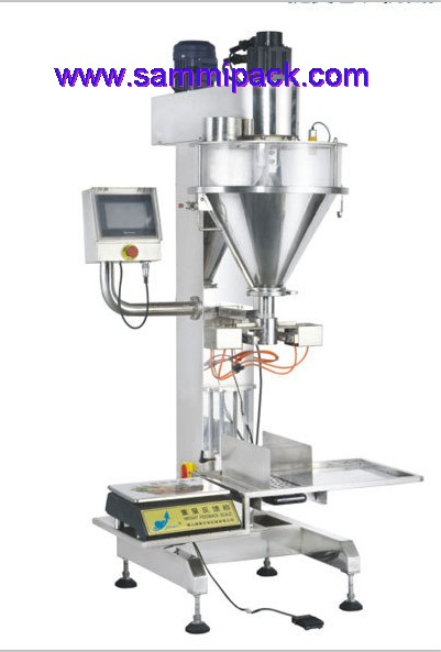 Luxiry type touch screen Semi-automatic powder filling machine with weigher