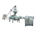 Semi-automatic Powder filling machine with conveyor,bottle feeder