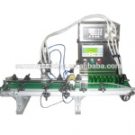 New design 4 heads automatic magnetic pump liquid filling machine with conveyor